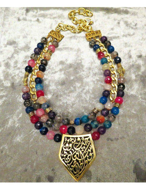 COLOURFUL STONES NECKLACE