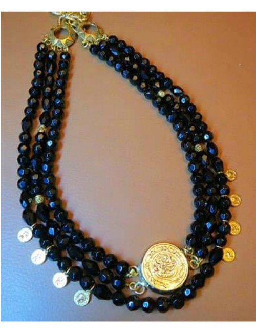 BLACK STONES NECKLACE