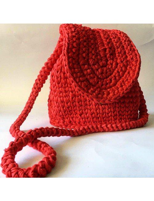 RED HANDMADE CROSS BAG