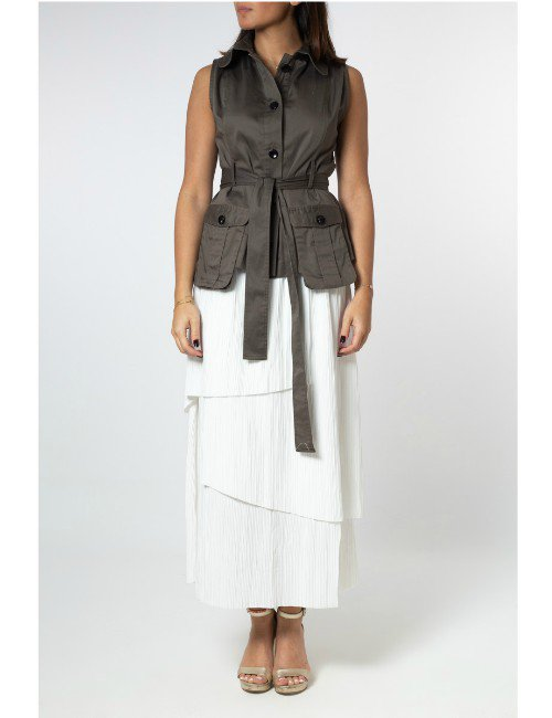 CUT VEST WITH POCKETS