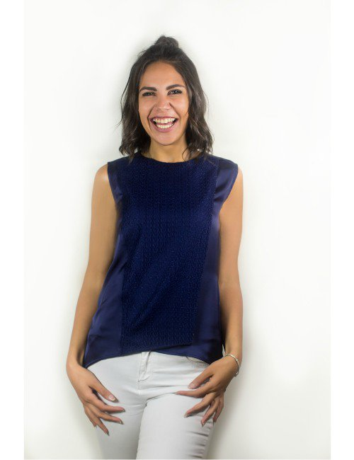 HIGH LOW BLUE TOP