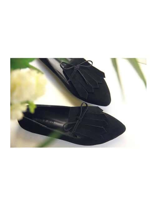 FRINGED FLAT LOAFERS