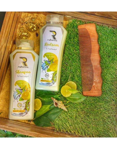 شامبو و بلسم الليمون و الاعشاب للقشره