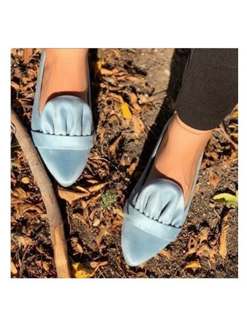 POINTED CORALS SLIP-ON LOAFERS