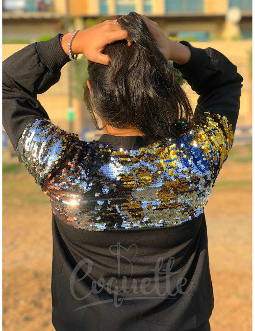 BOMBER JACKET WITH  PAILLETTES
