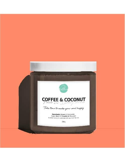 COFFEE AND COCONUT BODY AND FACE SCRUB