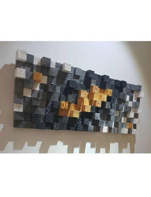 MODERN 3D WALL WOOD ART