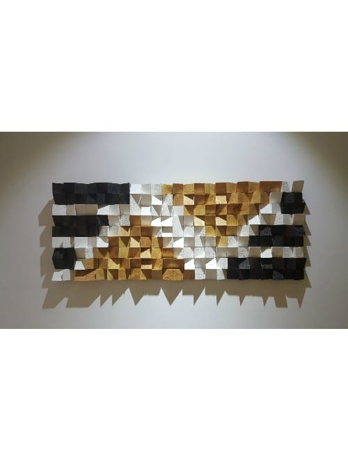 A GEOMETRIC WOOD ART