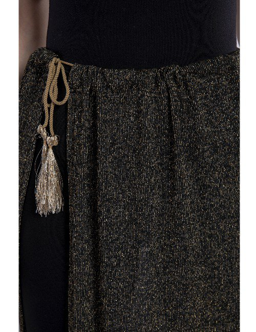 CASH MAILLOT SKIRT WITH BELT