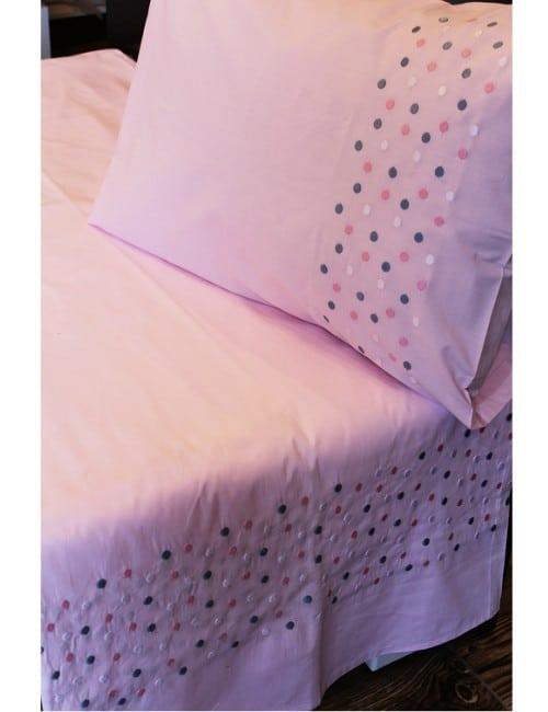 Dots Pink BED SHEET