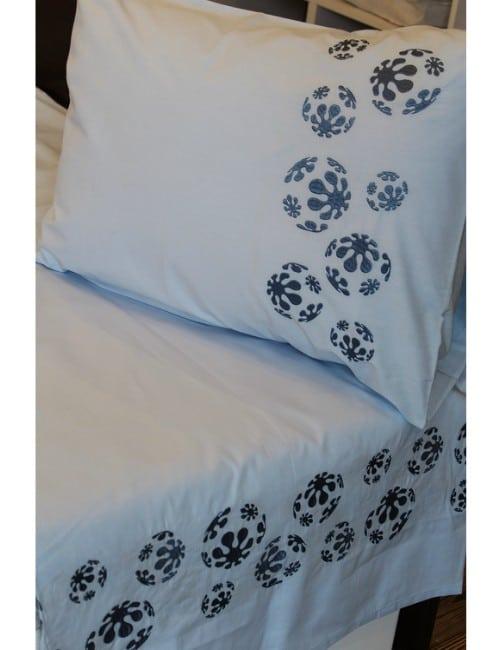 Blue Ball BED SHEET