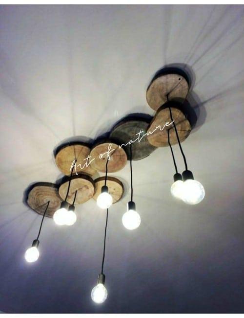 8 WOOD LAMP