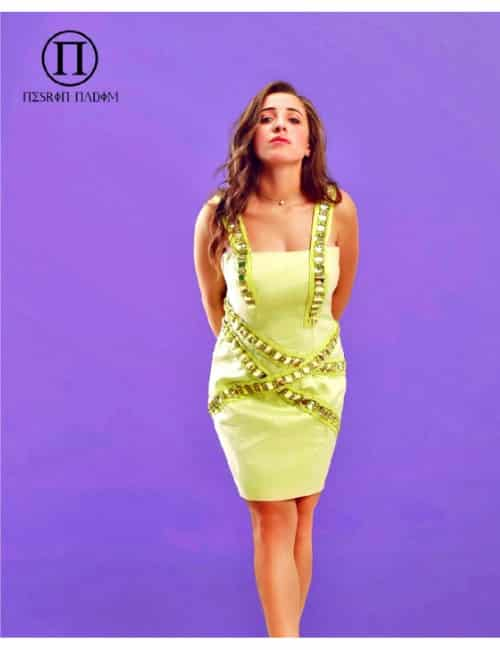 SHORT DRESS (PISTACHIO COLOR)