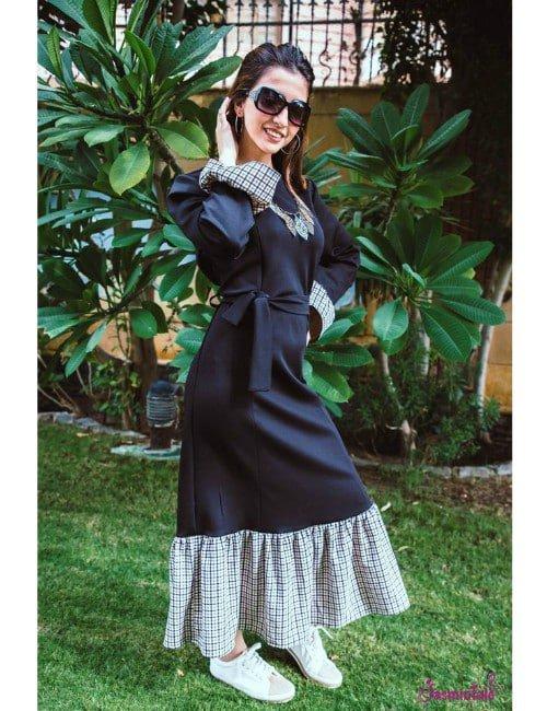 BLACK SCUBA DRESS