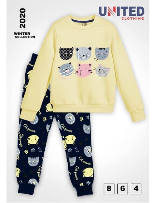 Yellow Cat Pyjama