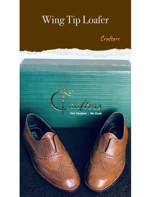 Wing tip loafer