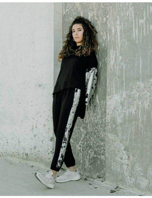 Black & silver sequins co-ord set