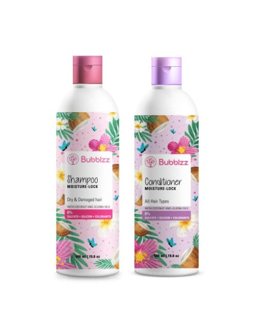Moisture Lock Shampoo for Dry Hair & Conditioner for all Hair Types Pack