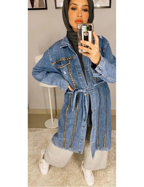 Long jacket jeans