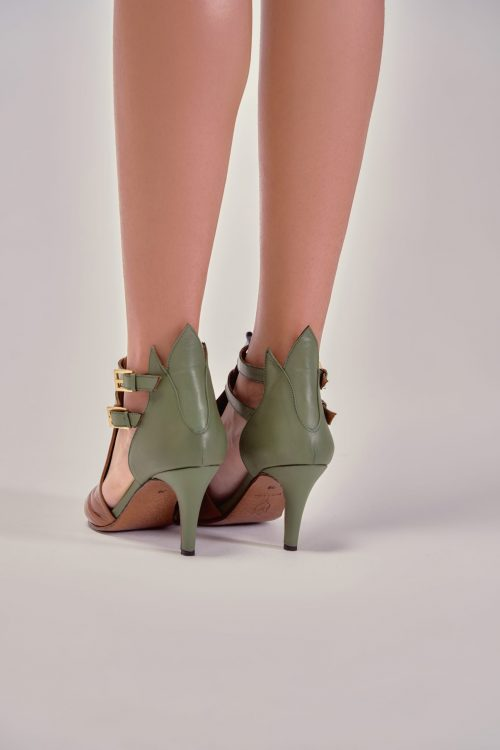 CLEO STRAP ANKLE BOOTS CAMEL X OLIVE