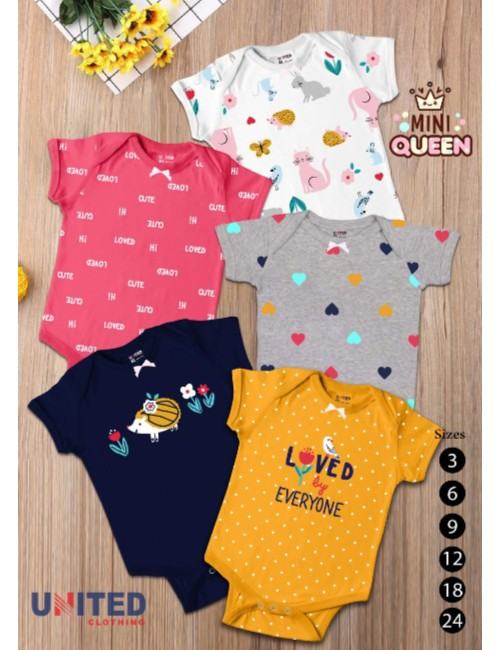 Baby bodysuit multicolored