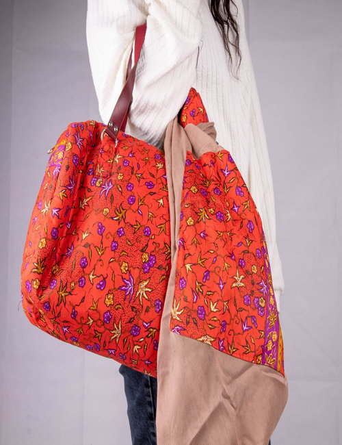 African bag with scarf By Mona Kenyi