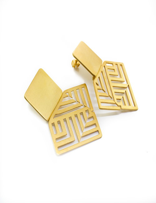 The Pattern large earrings