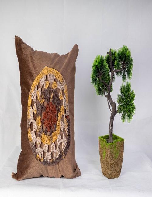 Crocheted Cushion By Ragdah