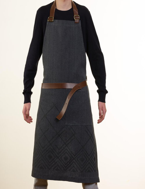 MADE51 Printed aprons with leather straps By Nilfurat