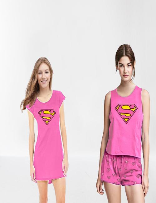 Nightgown And Pjama shorts set